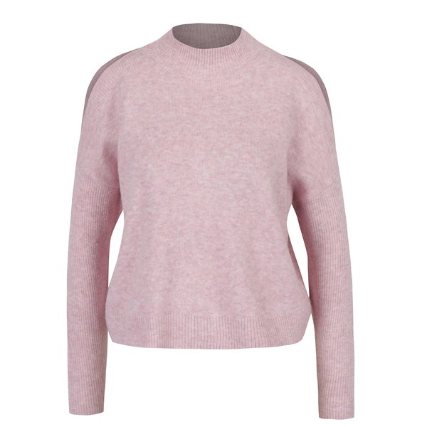 Pulover roz cu maneci raglan Miss Selfridge