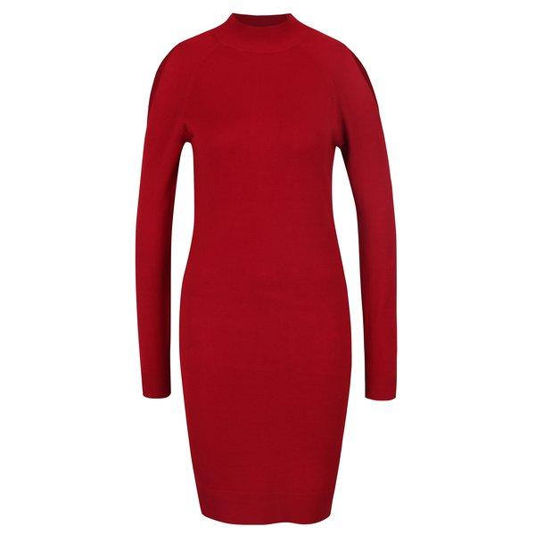 Pulover rochie roșu cu decupaje Miss Selfridge