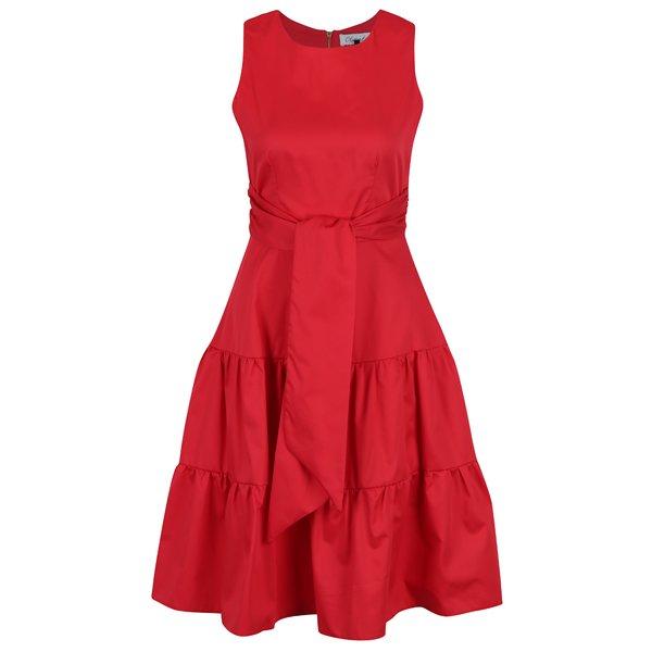 Rochie roșie fără mâneci cu cordon lat Closet