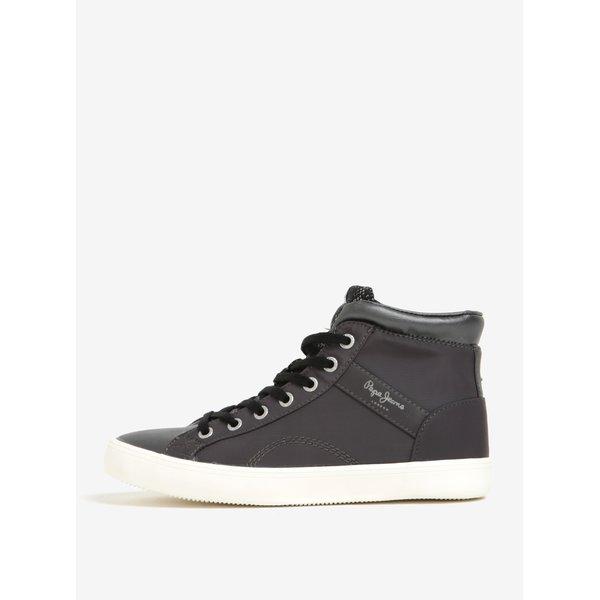 Pantofi gri sport pentru femei - Pepe Jeans Clinton Stars
