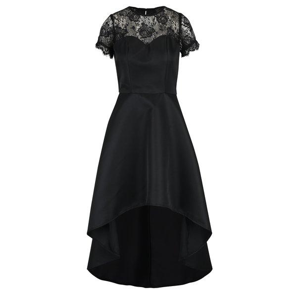 Rochie neagră cu detalii din dantelă Chi Chi London Georgee