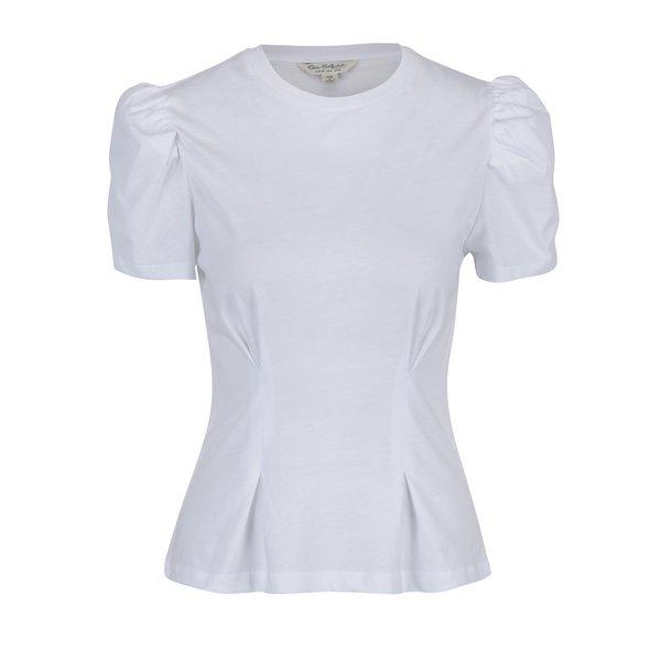 Tricou alb cu mâneci bufante Miss Selfridge