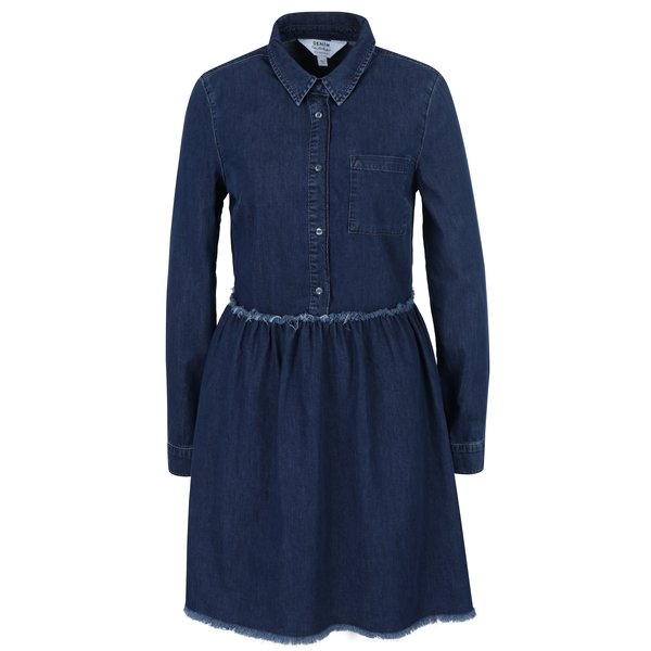Rochie din denim albastră cu buzunar Miss Selfridge