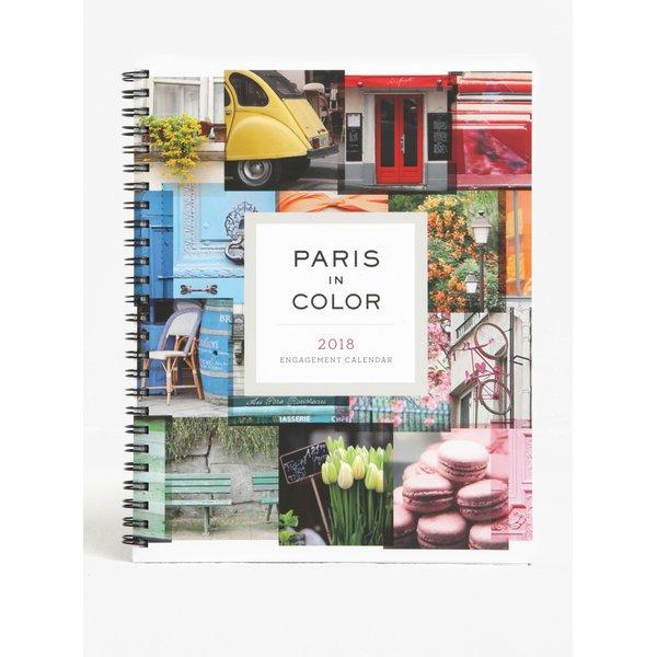 Jurnal alb cu motive pariziene 2018 Chronicle Paris