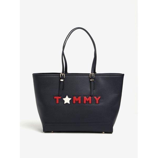 Geantă shopper bleumarin Tommy Hilfiger Honey
