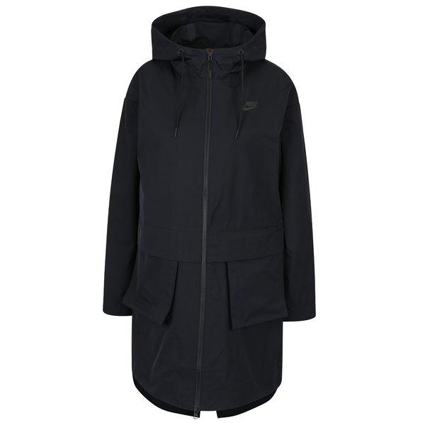 Imagine indisponibila pentru Geaca parka neagra impermeabila cu buzunar detasabil pentru femei Nike