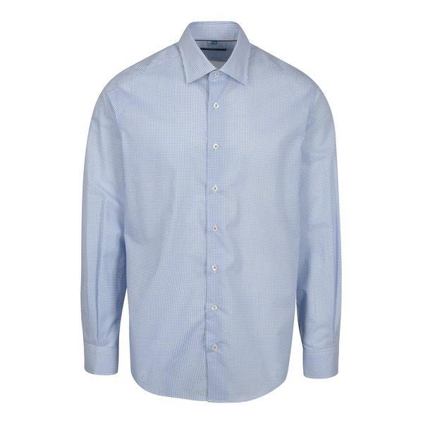 Cămașă albastră&alb regular fit cu buline Braiconf Nicoara