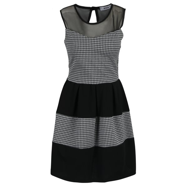 Rochie negru & alb cu print Haily´s Eva