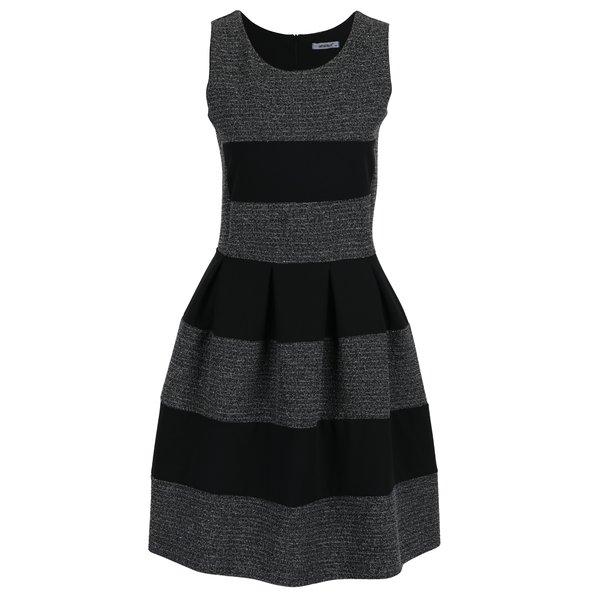 Rochie negru & alb cu dungi Haily´s Evelyn