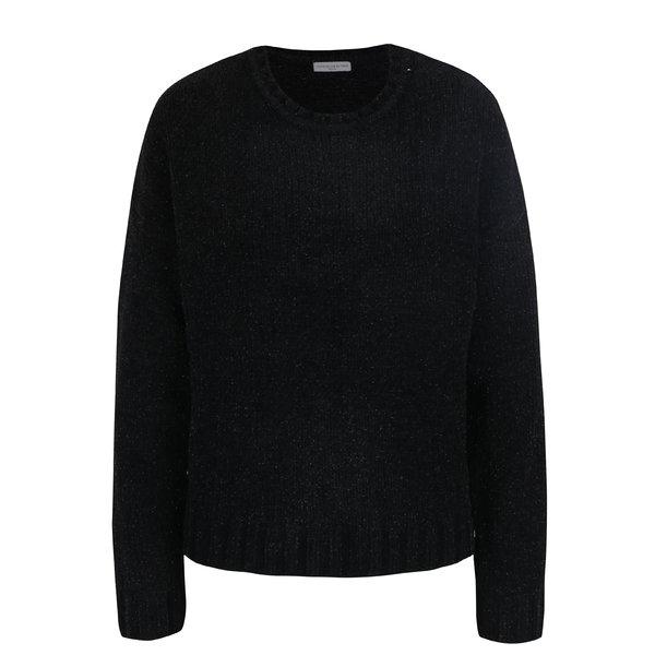 Puover negru cu fibre glossy Jacqueline de Yong Shine