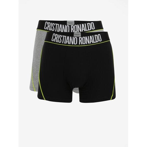 Set de 2 perechi de boxeri negru & gri CR7