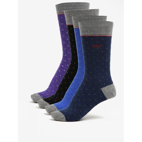 Set de 4 perechi de șosete colorate CR7