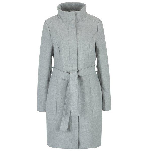 Palton gri deschis din amestec de lana VILA Bee