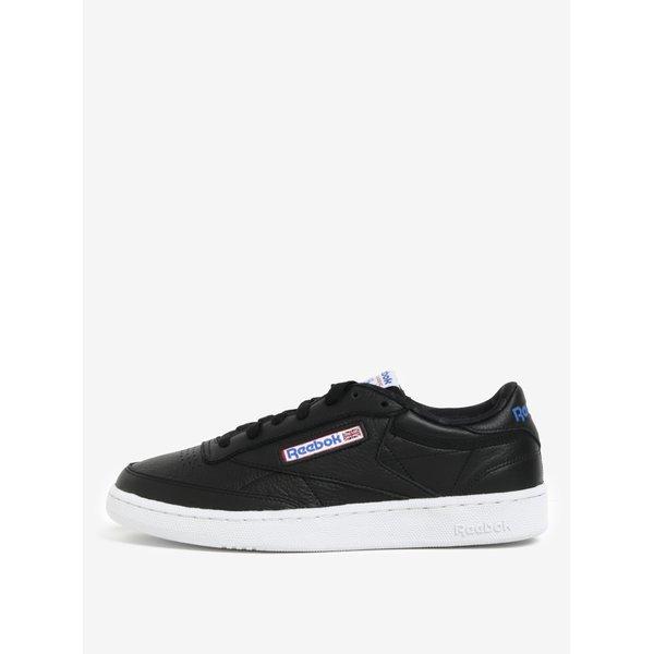 Pantofi sport negri din piele naturală pentru bărbați - Reebok CLUB C 85 SO