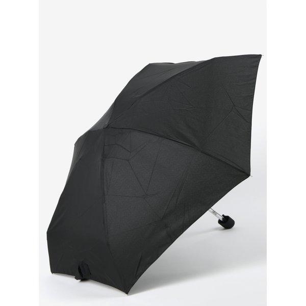 Umbrelă neagră telescopică pentru femei RAINY SEASONS Flat Plain