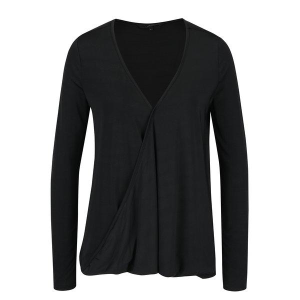 Bluza neagra cu decolteu suprapus VERO MODA Jennie