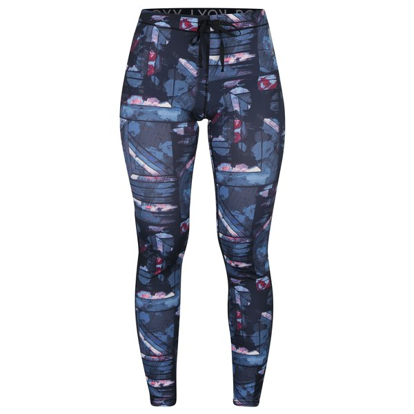 Colanti sport albastri roz &albastru cu print abstract - Roxy Stay On