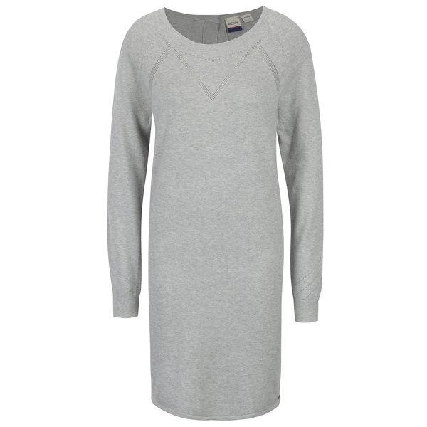 Rochie - pulover gri melanj cu nasturi pe spate- Roxy Winter Story
