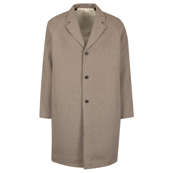 Palton bej din amestec de lana SUIT Kendrick