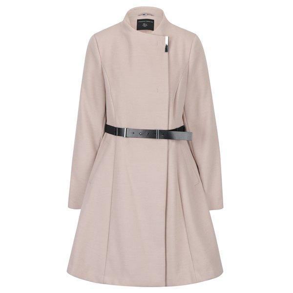 Palton roz clos cu guler asimetric Dorothy Perkins