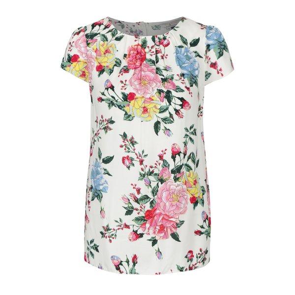 Bluza crem cu model floral Billie & Blossom