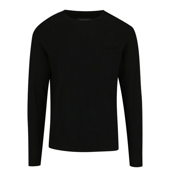 Pulover negru cu buzunar Casual Friday by Blend
