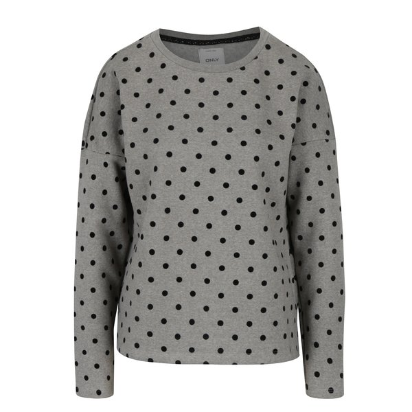 Pulover gri & negru cu buline ONLY Dot