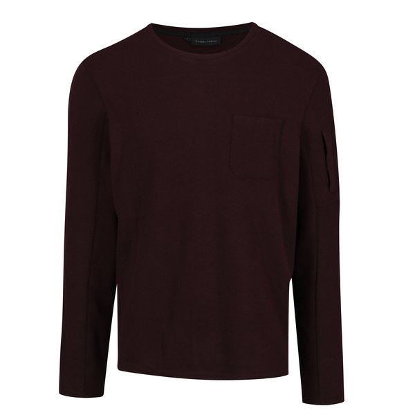 Pulover bordo cu buzunare Casual Friday by Blend