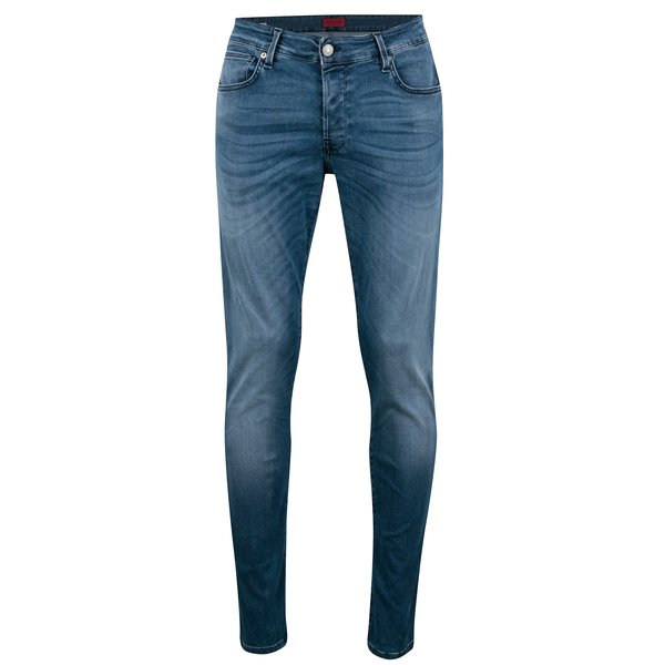 Blugi slim fit albastri cu aspect prespalat Jack & Jones Glenn