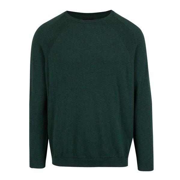 Pulover barbatesc subtire verde inchis - Burton Menswear London