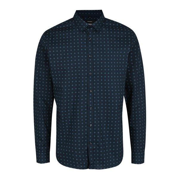 Camasa casual bleumarin cu imprimeu discret - Seidensticker