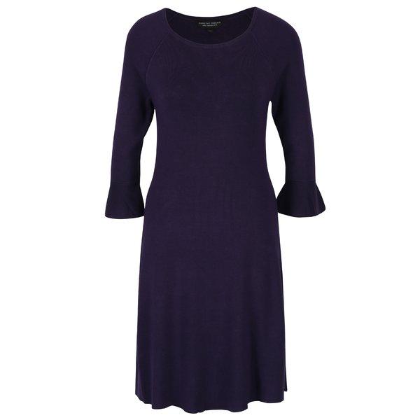Rochie pulover violet inchis cu maneci clopot Dorothy Perkins