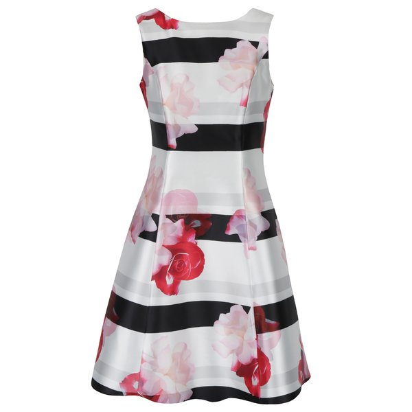 Rochie alb & negru cu print floral Dorothy Perkins