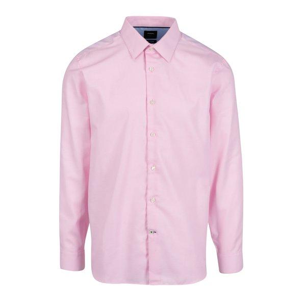 Camasa tailored fit alb & roz din bumbac pentru barbati - Burton Menswear London