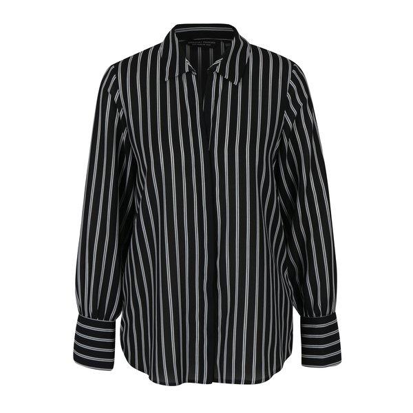 Camasa negru & alb cu print in dungi Dorothy Perkins