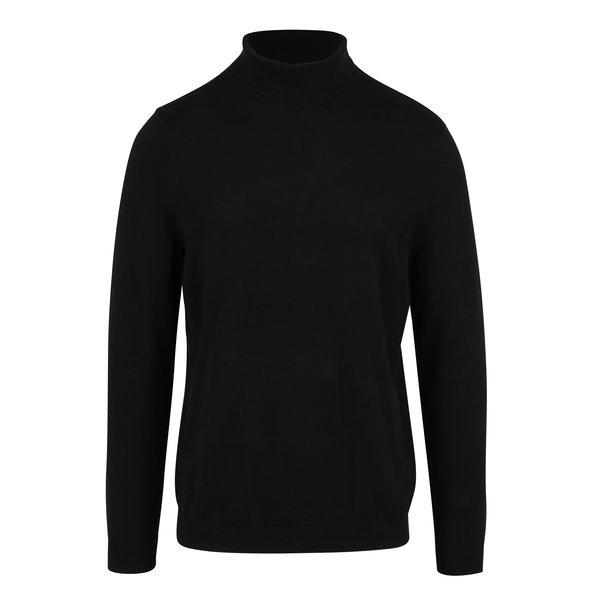 Pulover barbatesc negru cu guler inalt – Burton Menswear London