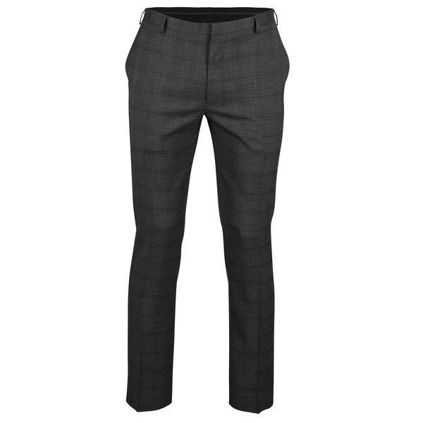 Pantaloni negri de costum cu model discret - Burton Menswear London