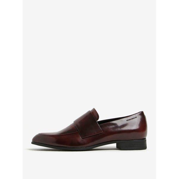 Pantofi bordo cu aspect lacuit din piele Vagabond Frances