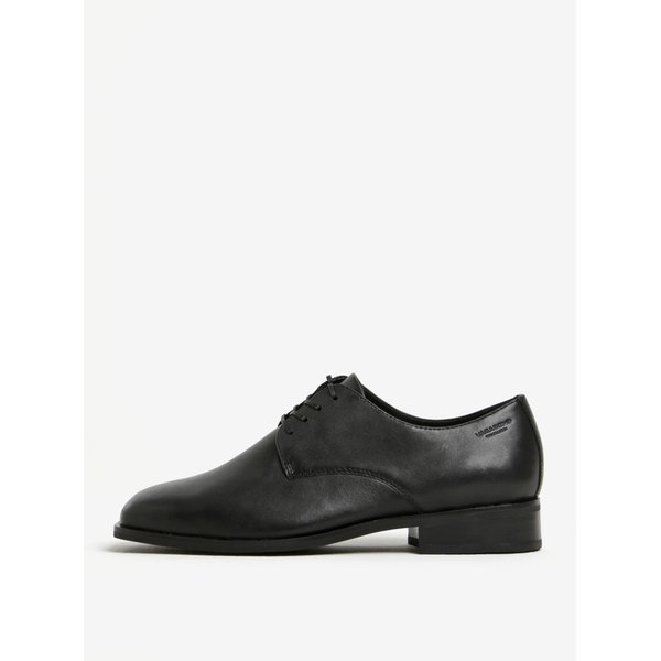 Pantofi negri din piele cu siret Vagabond Cora