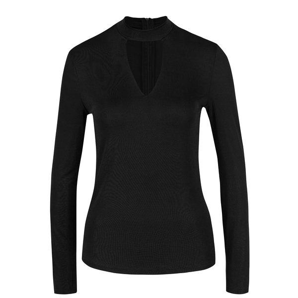Bluza neagra cu decolteu tip lacrima - VERO MODA Jennie