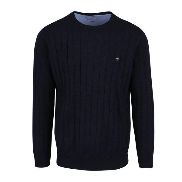 Pulover albastru cu dungi in relief - Fynch-Hatton
