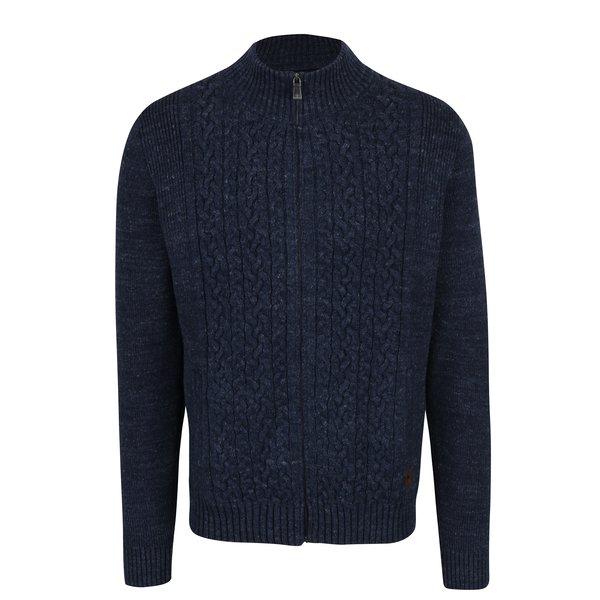 Cardigan tricotat albastru cu amestec din lana – Fynch-Hatton