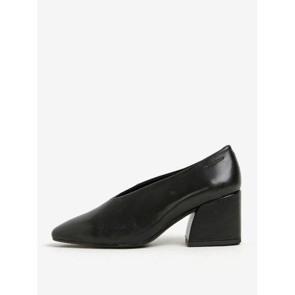 Pantofi negri din piele cu toc masiv - Vagabond Olivia