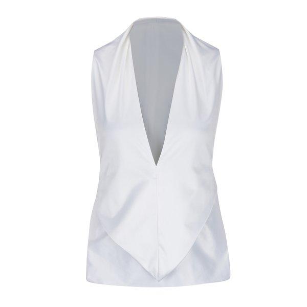 Bluza alba fara maneci cu funda la spate Bianca Popp