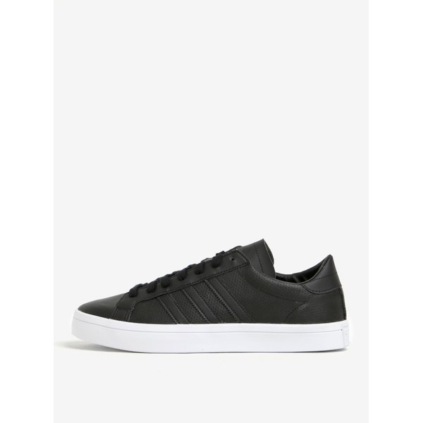 Pantofi sport negri din piele pentru barbati - adidas Originals Courtvantage