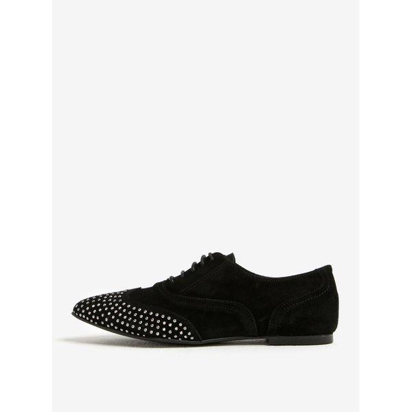 Pantofi din piele intoarsa cu detalii argintii - OJJU