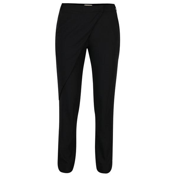 Pantaloni negri cu croi suprapus Skunkfunk