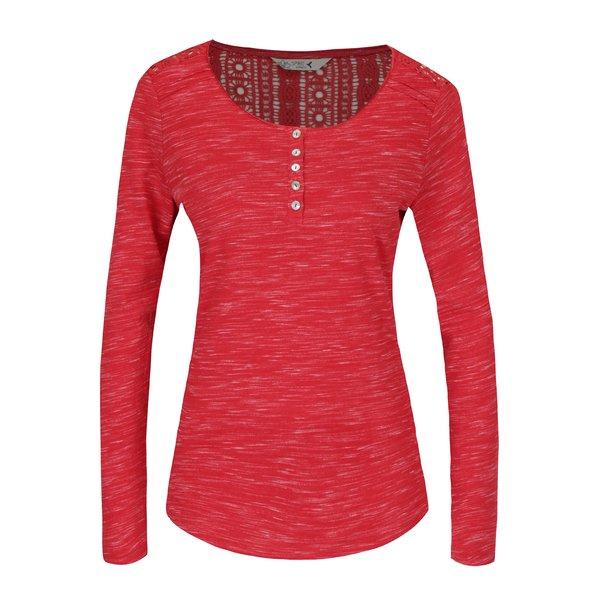 Bluza rosu melanj cu broderie la spate M&Co