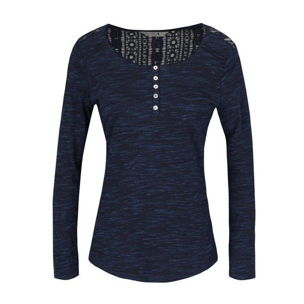 Bluza bleumarin melanj cu broderie la spate M&Co