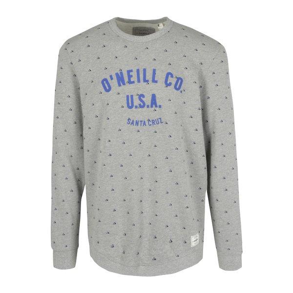 Bluza gri&mov cu print geometric si broderie ONeill